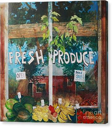 Fresh Produce Canvas Print by Micheal Jones