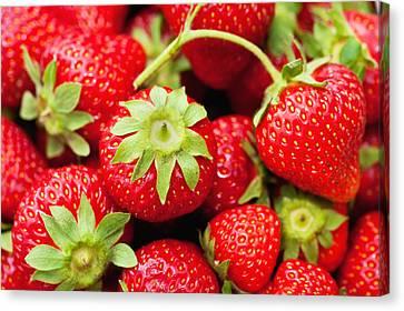 Fresh Strawberries Canvas Print by Marta Holka