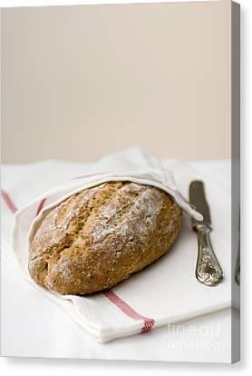 Freshly Baked Whole Grain Bread Canvas Print by Shahar Tamir