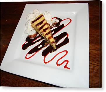 Fried Cheesecake Desert Canvas Print by Warren Thompson
