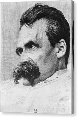 Friedrich Wilhelm Nietzsche, German Canvas Print by Photo Researchers