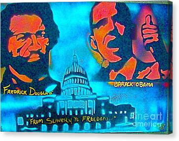 From Slavery To Freedom Canvas Print by Tony B Conscious