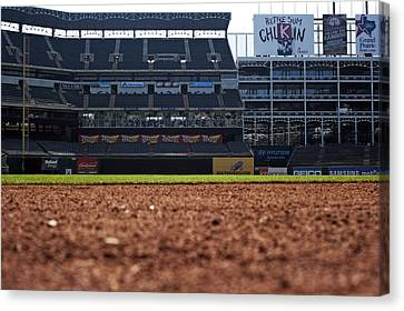 From The Dugout Canvas Print by Malania Hammer