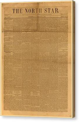 Front Page Of The North Star, June 2 Canvas Print by Everett
