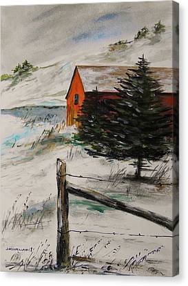 Frozen Pond Canvas Print by John Williams