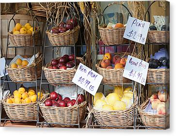 Fruit For Sale Canvas Print by Clarence Holmes