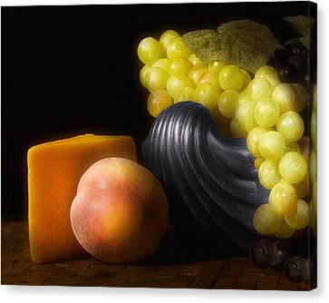Fruit With Cheese Canvas Print by Tom Mc Nemar
