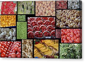 Fruits Mosaic Canvas Print by Francois Cartier