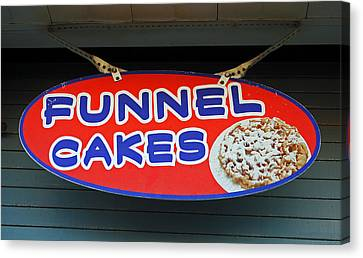 Funnel Cakes Canvas Print by Skip Willits