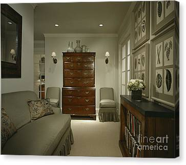 Furniture In Upscale Home Canvas Print by Robert Pisano
