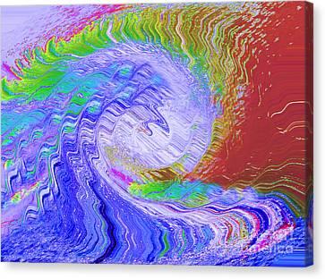Fury Canvas Print by Cindy Lee Longhini