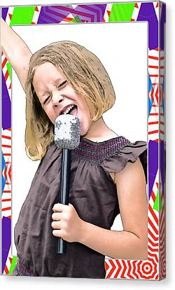Future Star Sing It Girl Canvas Print by Susan Leggett