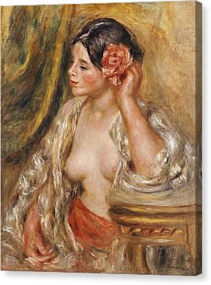 Gabrielle A Sa Coiffure Canvas Print by Pierre Auguste Renoir