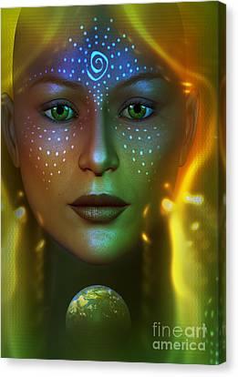 Gaia 2 Canvas Print by Shadowlea Is