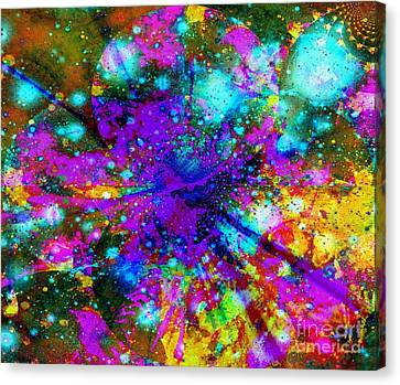 Galaxie Des Sages - Galaxy Of The Wise Canvas Print by Fania Simon