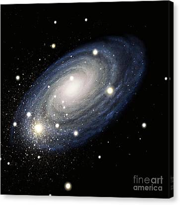 Galaxy Canvas Print by Atlas Photo Bank and Photo Researchers