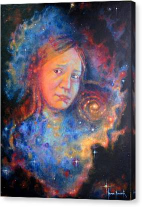 Galaxy Girl Canvas Print by Karen Roncari