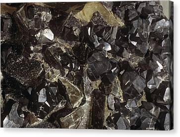 Galenite And Fluorite Minerals Canvas Print by Dirk Wiersma