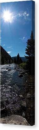Gallatin River Canvas Print by Ken Peterson