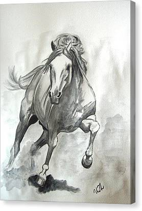 Galloping Horse Canvas Print by Ursula  Thuleweit Laranjeiro