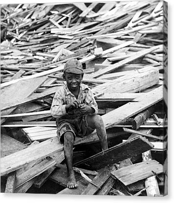 Galveston Flood Survivor - September - 1900 Canvas Print by International  Images