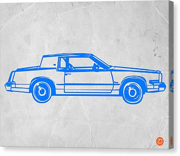Gangster Car Canvas Print by Naxart Studio