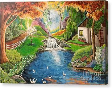 Garden For My Wife Canvas Print by Michael Josue Serrano
