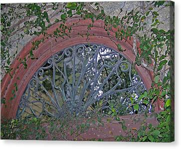 Gate To The Courtyard Canvas Print by Patricia Taylor