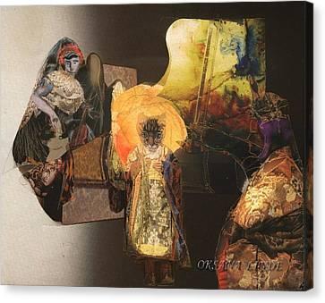 Gathering Canvas Print by Oksana Linde