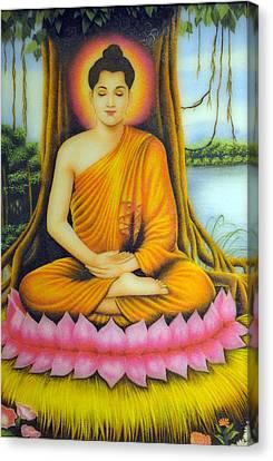 Gautama Buddha Canvas Print by Created by handicap artists