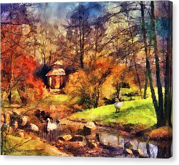 Gazebo In The Park Canvas Print by Jai Johnson