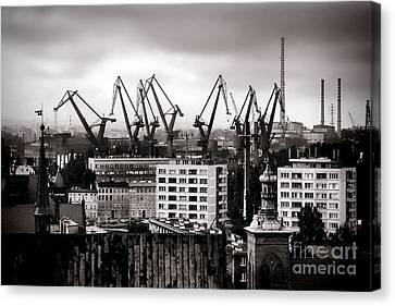 Gdansk Shipyard Canvas Print by Olivier Le Queinec
