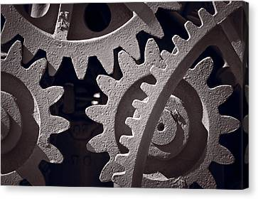 Gears Number 1 Canvas Print by Steve Gadomski