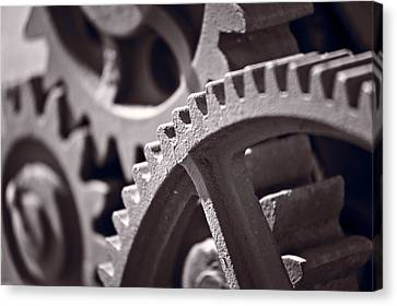 Gears Number 3 Canvas Print by Steve Gadomski