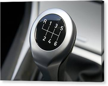 Gearstick Canvas Print by Johnny Greig