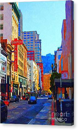 Geary Boulevard San Francisco Canvas Print by Wingsdomain Art and Photography