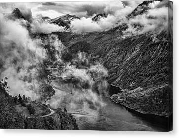 Geiranger Fjord Canvas Print by A A