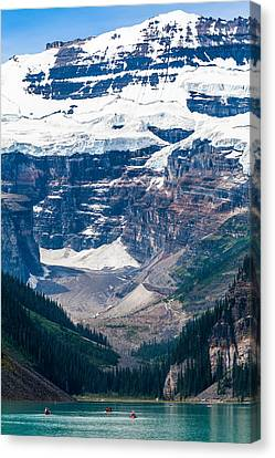 Gem Of The Canadian Rockies Lake Louise Canvas Print by Tommy Farnsworth