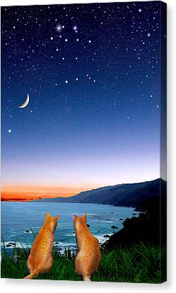 Gemini Canvas Print by Kathleen Horner