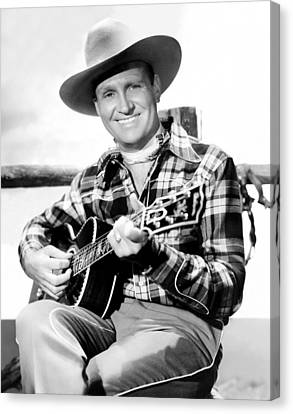 Gene Autry, Ca. Late-1940s Canvas Print by Everett