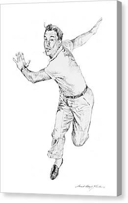 Gene Kelly Canvas Print by David Lloyd Glover