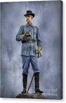 General John Buford At Gettysburg Canvas Print by Randy Steele