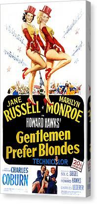 Gentlemen Prefer Blondes, Jane Russell Canvas Print by Everett