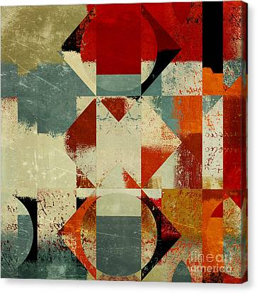 Geomix 04 - 39c3at227a Canvas Print by Variance Collections