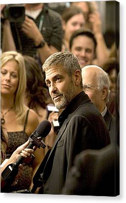George Clooney At Arrivals For Michael Canvas Print by Everett