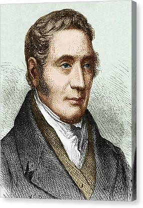 George Stephenson (1781-1848) Canvas Print by Sheila Terry