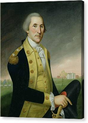 George Washington At Princeton Canvas Print by Charles P Polk