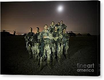 German Army Crew Poses Canvas Print by Terry Moore