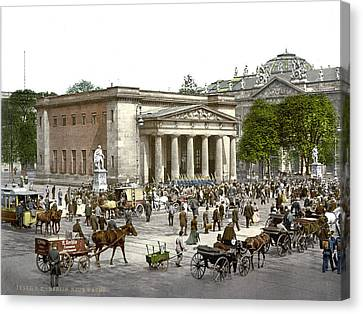 Germany, The New Guard And Street Canvas Print by Everett