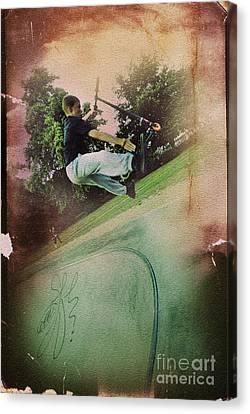 Get A Grip Canvas Print by Yhun Suarez
